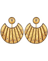 Carousel Jewels - Heritage Gold & Crystal Statement Earrings - Lyst