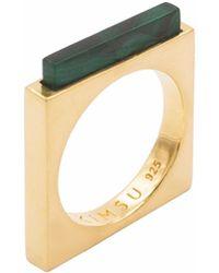 KIMSU - 18k Vermeil Gold Quadrato Ring - Lyst