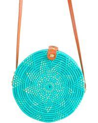 Soi 55 Lifestyle - Cantik Round Bali Bag Turquoise - Lyst