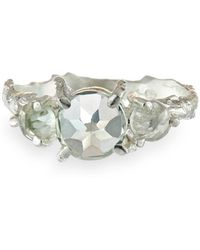 Chupi - Tiny Twinkle In The Wild Prasiolite Ring In Silver - Lyst