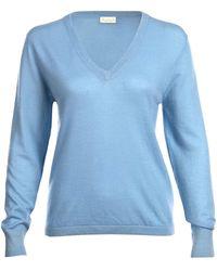Asneh - Alaskan Blue Mathilda V-neck Cashmere Sweater - Lyst