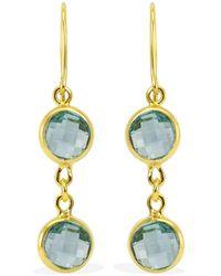 Vintouch Italy - Positano Sky Blue Topaz Gold Drop Earrings - Lyst
