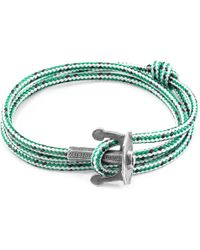 Anchor & Crew - Green Dash Union Rope Bracelet - Lyst