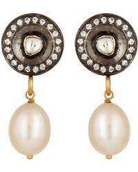 Carousel Jewels - Crystal & Pearl Drop Earrings - Lyst