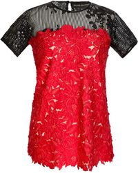 Jelena Bin Drai - Floral Embroidered Sequin Top - Lyst