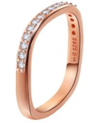 Opes Robur - Rose Gold Vermeil Paved Stacking Ring - Lyst