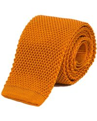 40 Colori - Copper Solid Silk Knitted Tie - Lyst