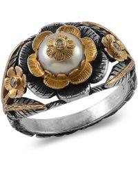 Emma Chapman Jewels - Aiko Pearl Diamond Ring - Lyst