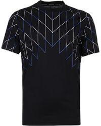 Neil Barrett Football Net Black T-shirt