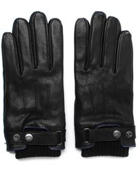 Armani Jeans - Black Leather Gloves - Lyst