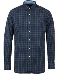 Polo Ralph Lauren - Ralph Lauren Sea Poplin Check Regular Fit Shirt - Lyst