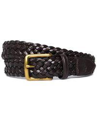 Polo Ralph Lauren - Dark Brown Braided Leather Belt - Lyst