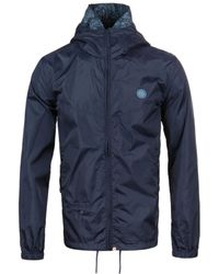 Pretty Green - Darley Navy Weather-proof Hooded Jacket - Lyst