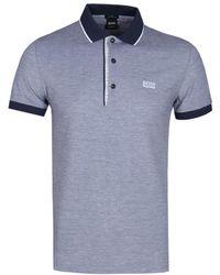 BOSS Athleisure - Paule4 Slim Fit Navy Polo Shirt - Lyst