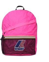 K-Way - Francois Pink Packable Backpack - Lyst
