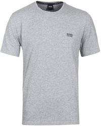 BOSS - Mix & Match Grey Marl Crew Neck T-shirt - Lyst