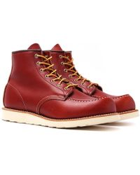 """Red Wing - Moc Toe 6"""" Red Boots - Lyst"""