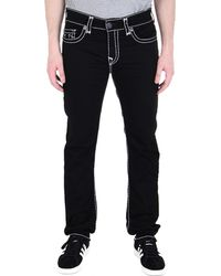True Religion - Rocco Black Super T Skinny Fit Jeans - Lyst