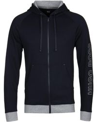 BOSS by Hugo Boss - Navy Contemp Hoodie - Lyst