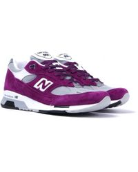 New Balance - M991 Purple & Grey Made In England Sneakers - Lyst