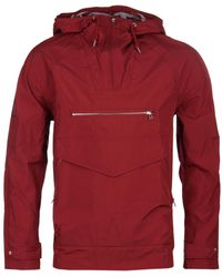 Pretty Green - Red Water Resistant Overhead Hooded Jacket - Lyst