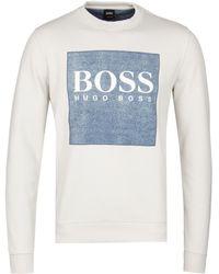 BOSS Orange - Boss Wedford Beige Crew Sweatshirt - Lyst