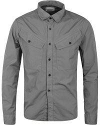 Albam - Slate Grey Huey Military Overshirt - Lyst