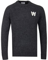 WOOD WOOD - Dark Grey Melange Kevin Sweater - Lyst