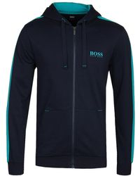 BOSS by Hugo Boss - Navy Authentic H Hoodie - Lyst