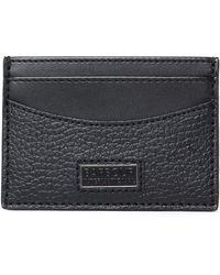 Barbour - Black Leather Card Holder - Lyst