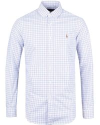 Polo Ralph Lauren - Pink & Blue Check Oxford Shirt - Lyst
