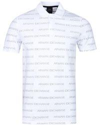 b0d550df Emporio Armani - Armani Exchange Pin-dot White Polo Shirt - Lyst