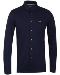 Lacoste - Navy Pique Shirt - Lyst
