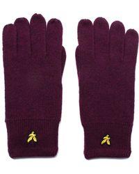 Lyle & Scott - Claret Jug Lambswool Knit Gloves - Lyst