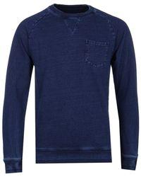 Edwin - Indigo Washed Raglan Sweatshirt - Lyst