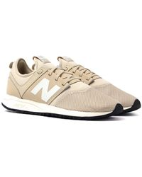New Balance - 247 Beige Trainers - Lyst