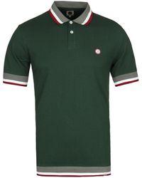 Pretty Green - Fairbrook Tipped Green Pique Polo Shirt - Lyst