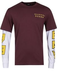 DIESEL - T-sound Japan Burgundy Double Tee - Lyst