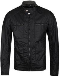 Belstaff - Weybridge Black Waxed Blouson Jacket - Lyst