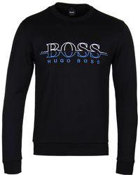 BOSS Green - Black Salbo Sweatshirt - Lyst