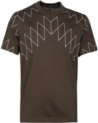Neil Barrett - Football Net Khaki T-shirt - Lyst