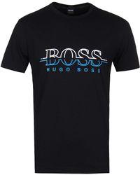 BOSS Green - Tee2 Black Logo T-shirt - Lyst
