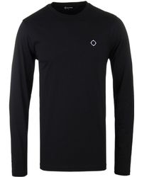 Ma.strum - Halibut Black Long-sleeve T-shirt - Lyst