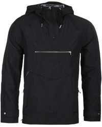 Pretty Green - Black Water Resistant Overhead Hooded Jacket - Lyst