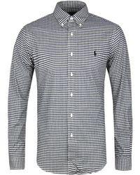Polo Ralph Lauren - Slim Fit White Gingham Check Button-down Long Sleeve Shirt - Lyst