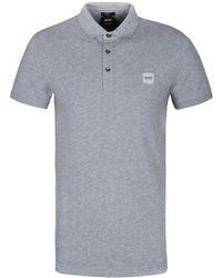 BOSS Orange - Light Grey Passenger Short Sleeve Polo Shirt - Lyst