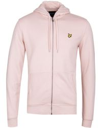Lyle & Scott - Plaster Pink Zip Through Hoodie - Lyst