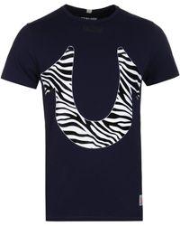 True Religion - Animals Navy Crew T-shirt - Lyst