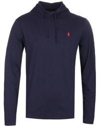 Polo Ralph Lauren - Loungewear Lightweight Navy Hoodie - Lyst