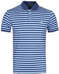 Polo Ralph Lauren - Slim Fit Stretch Mesh Blue Polo Shirt - Lyst